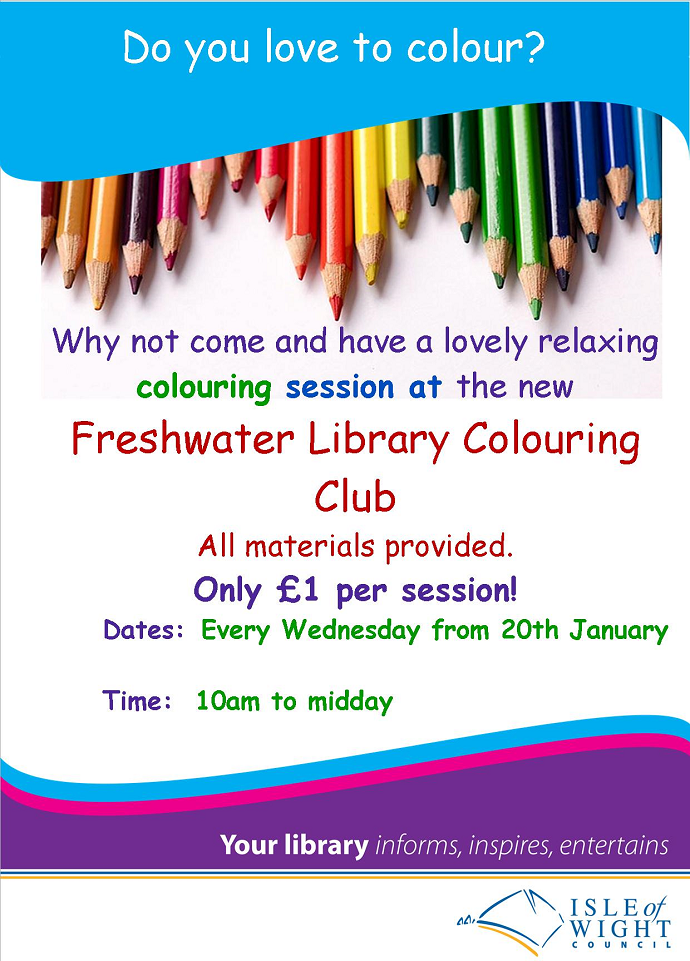 Freshwater Library Colouring Club